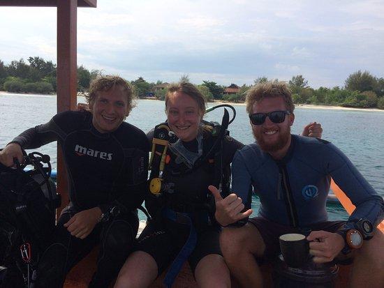 Gili Air, Indonésia: With Marcus & Matt