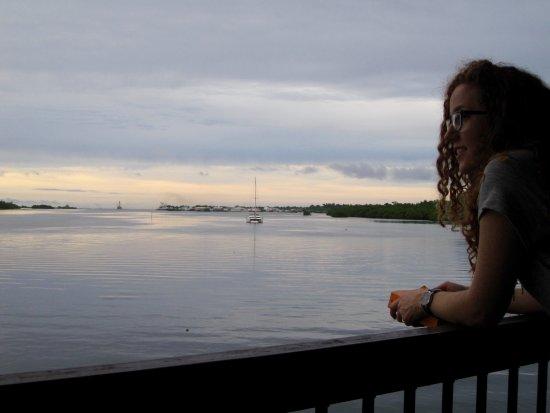 Kolonia, Negara Federasi Mikronesia: Enjoying a sunset on our private balcony.