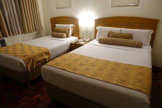 City Garden Suites: Sköna sängar på hotellet.