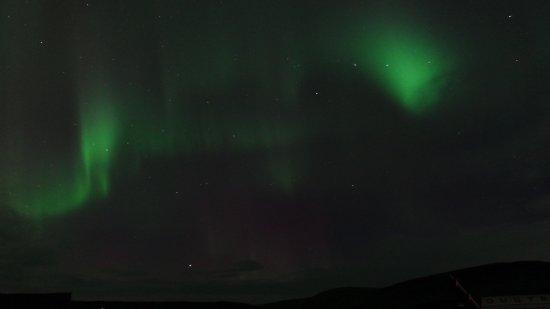 Киркьюбайярклёйстюр, Исландия: aurore boréale vue du Fosshotel Nupar