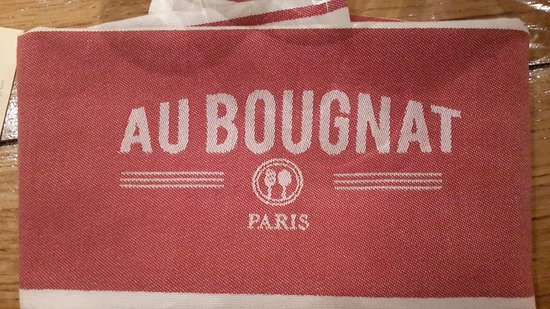 Au Bougnat : serviette en tissu !!!