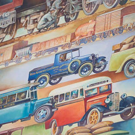 ‪History of Transport Mural‬