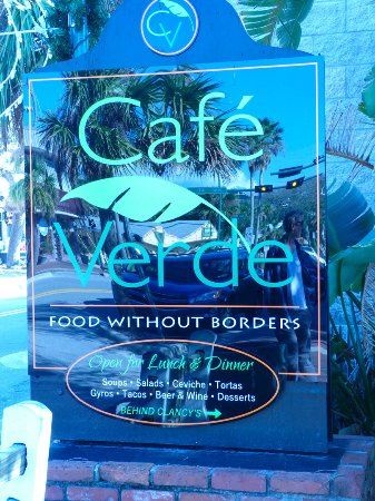 Cafe Verde Menu New Smyrna Beach