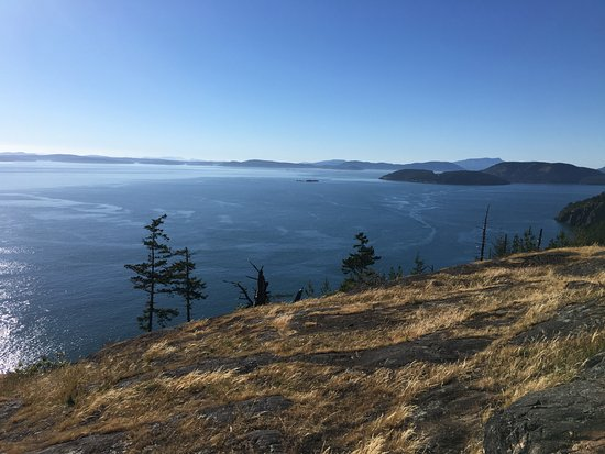 Anacortes, Etat de Washington : View from the end of trail