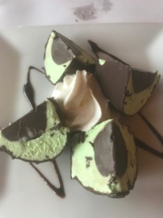 Hicksville, NY: Signature Mint Chocolate Chip Fudge Tartufo... a must!