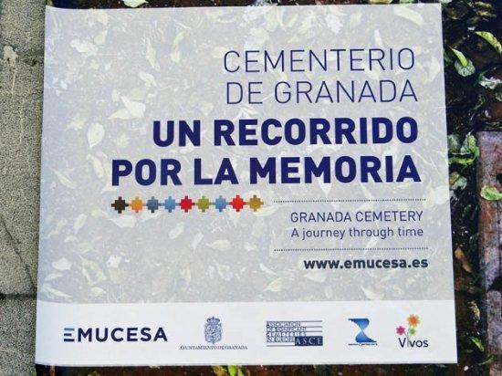 Granada Cemetery Walls Memorial: a sign