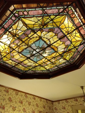 Clarion, PA: Stained glass in the ceiling of the second floor