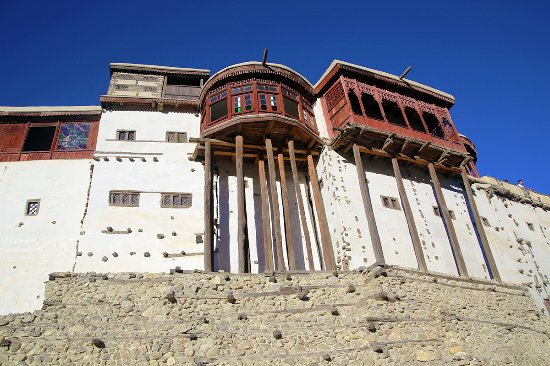 Gilgit, Pakistan: front view of baltit fort
