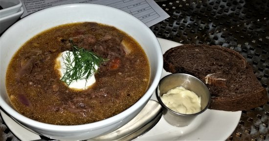 Troy, NY: Russian Feast (1st course) - Borscht.