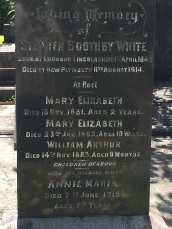 New Plymouth, New Zealand: A family who died.There are also Maori victims although graves are scarce.