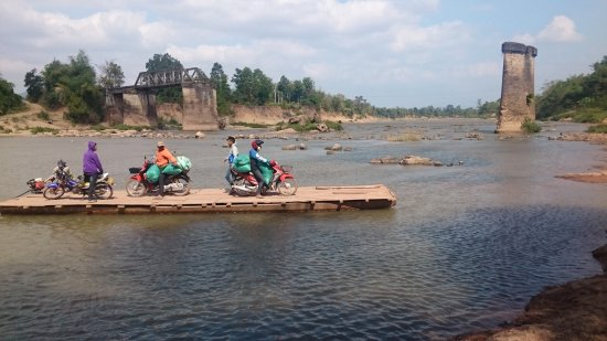 Prince Souphanouvong's Bridge: Now they have to use a ferry