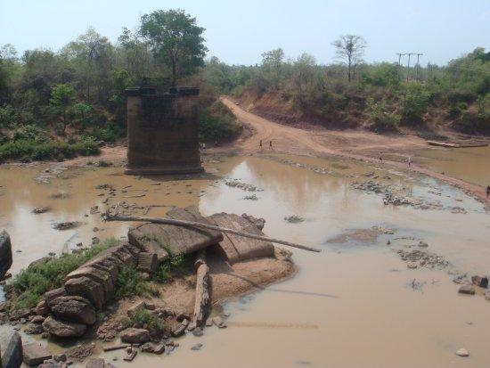 Prince Souphanouvong's Bridge: View from the far bank