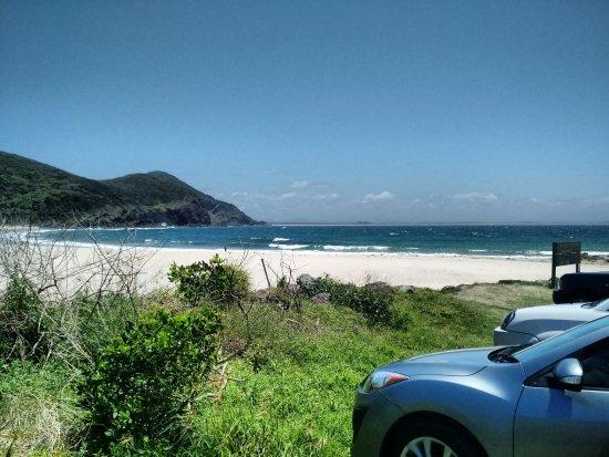 Blueys Beach, Australië: Pure white sands of Elizabeth Bay