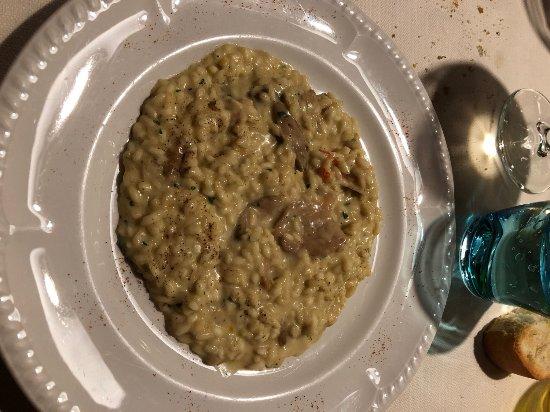 Trattoria La Rosa: risotto with shrimps and porcini mushrooms