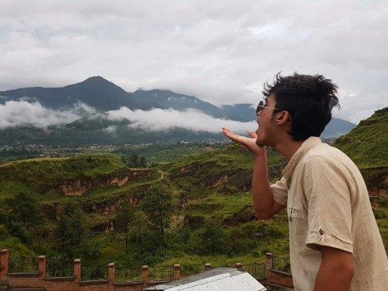 Chobhar, Nepál: The soul awakening view of back hills of Kathmandu Valley!