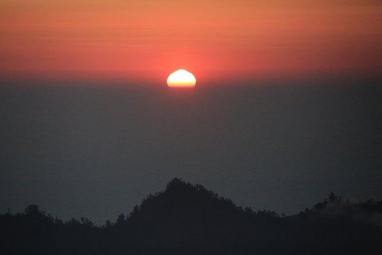Sunrise as seem from Mount Batur.