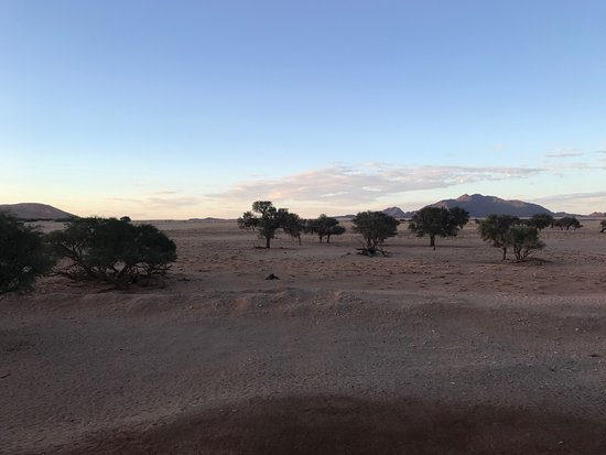 Sossusvlei Lodge: early morning from our room