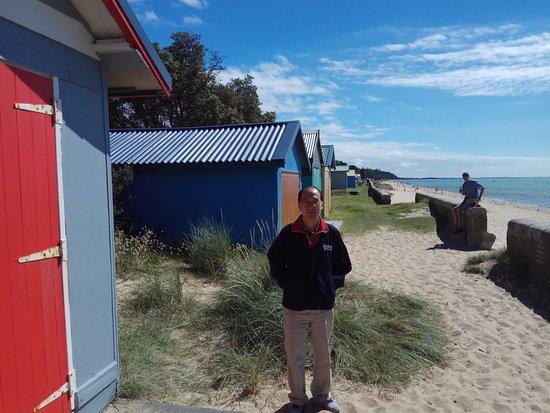 Safety Beach: At Bathing Boxes at Dromana~