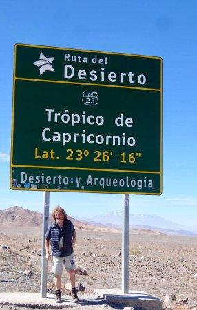 Atacama Region, Chile: Un capricorne sur le Tropique du Capricorne, désert d'Atacama