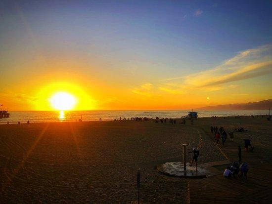 Santa Monica Pier: por do sol