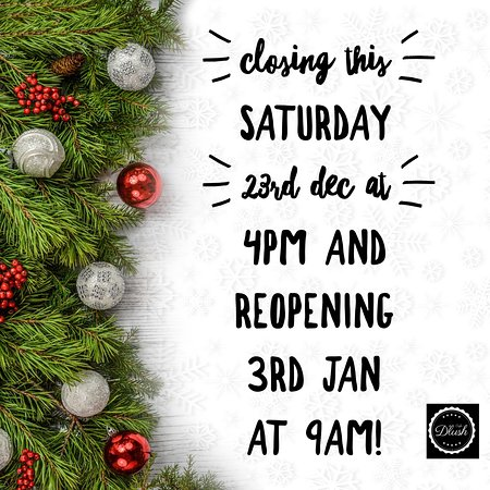 Christmas Hours.Closing This Saturday For Christmas Holidays Christmas
