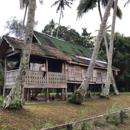 Bon Ton Resort: Bon ton food and wildlife including otters in lake