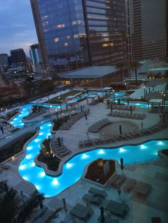Marriott Marquis Houston Roof Top Pools And Texas Shaped Lazy River