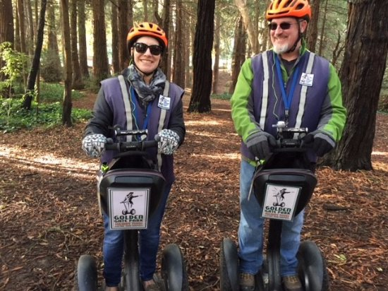 Electric Tour Company Segway Tours : Segway in the Redwoods - Dec. 2017