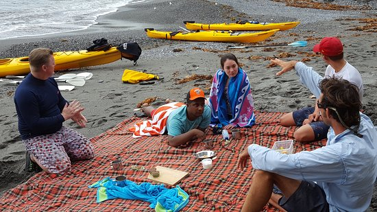 Region X: Chilling half wzt through our half day Sea kayak tour