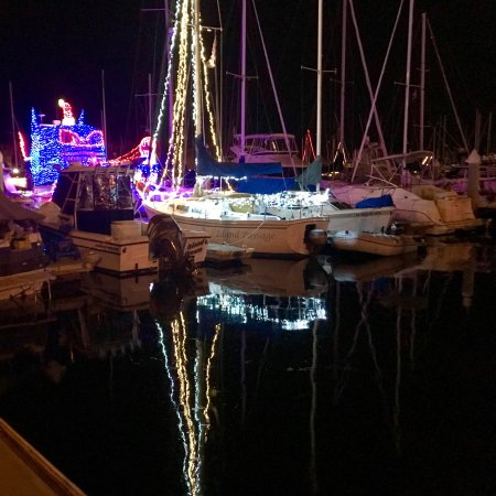 DANA POINT HARBOR, CA in Dec2017! All Lit Up & Ready for the 43rd Annual Boat Parade of Lights!