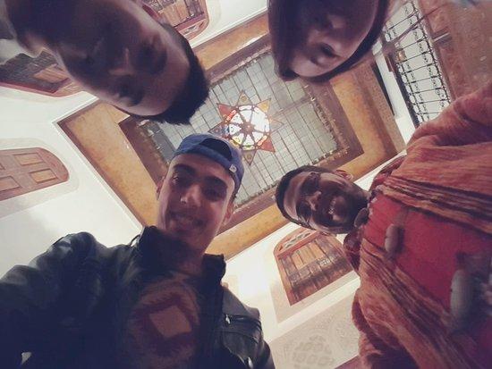 Dar Hafsa: Having fun with the staff!