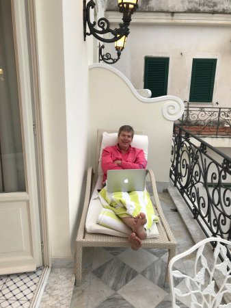 Luxury Villa Excelsior Parco: Charming terrace that my husband enjoyed immensely