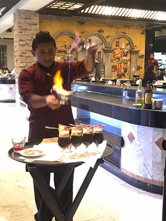 Heaven at the Hard Rock Hotel Riviera Maya: Louis B at Ciao makes the very best Mayan Coffee - we should know we had one each night 😉