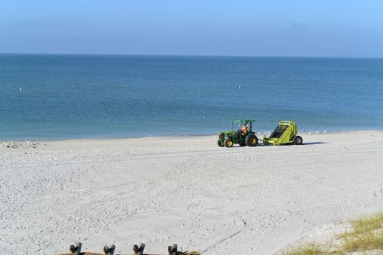 Sandy Shores: What we called the beach zamboni raking the beach in the morning