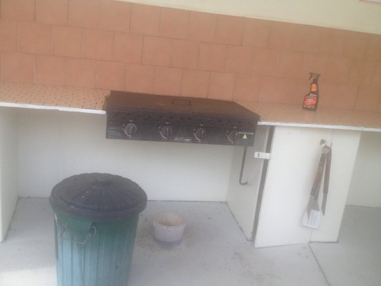 Ashmore, Australia: 1 of the 2 bbq's, The bins were full the day before and still full the next day