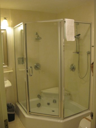 Spacious shower stall with multiple shower heads! - Picture of ...
