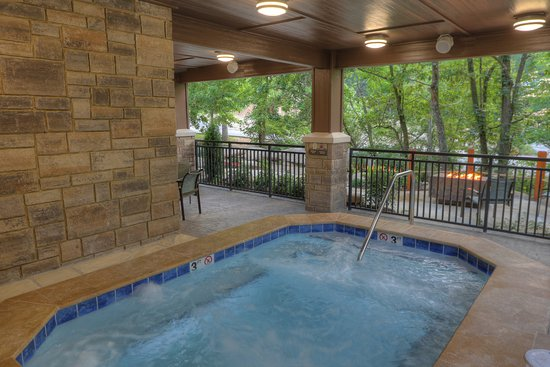 Exterior Hot Tub, View of Fire Pits, River Views - Picture of ...