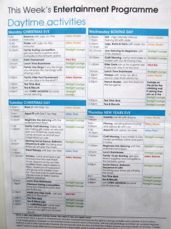 TLH Victoria Hotel: Typical Daily Activities Program