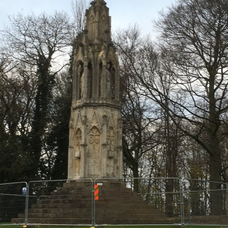 Northampton, UK: A memorial for the resting place of Queen Eleanor on route to her grave
