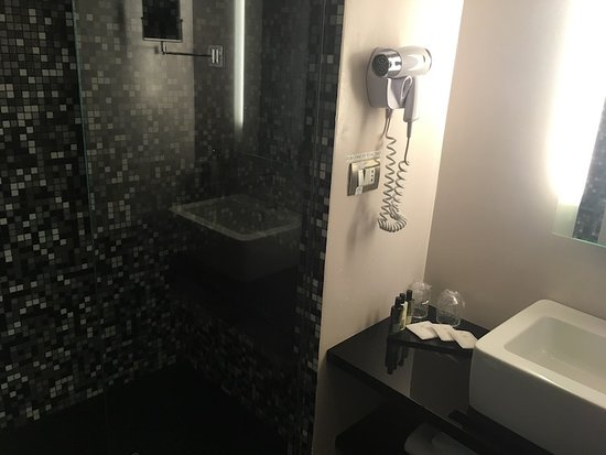 Dharma Hotel & Luxury Suites: Shower and steam room combination