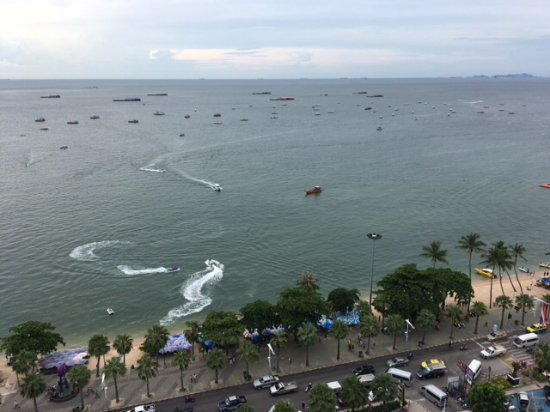 Hilton Pattaya: View from room - Gulf of Thailand