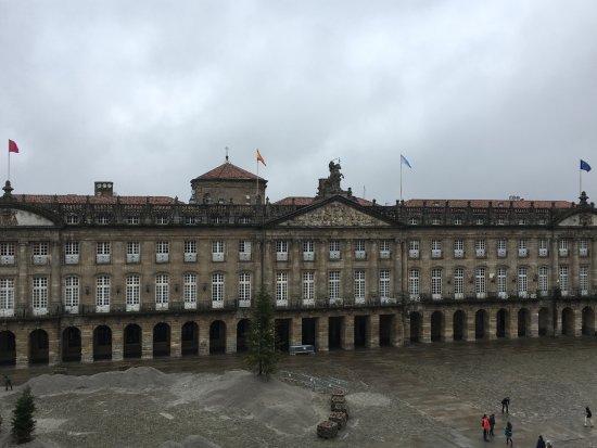 Plaza del Obradoiro: photo taken from the cathedral