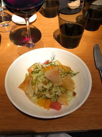 The Modern: fennel citrus salad with truffle dressing
