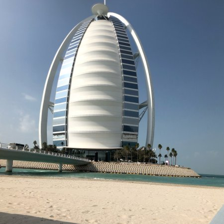Burj Al Arab Jumeirah From Beach Hotel Near The Bridge