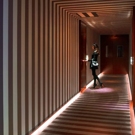 Iconic striped corridors designed by Philippe Stark - Picture of Le ...