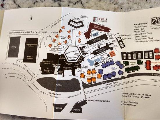 Property Map - Picture of Arizona Biltmore, A Waldorf ...