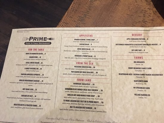Prime Farm To Table Flower Mound