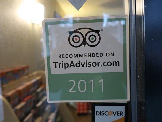 Best Western Spanish Quarters Inn: Spanish Quarters received a Trip Advisor Award om 2011.