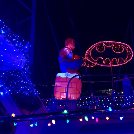 DANA POINT HARBOR, CA, Dec2017! 43rd Annual Boat Parade of Lights! A SUPER HERO HOLIDAY!