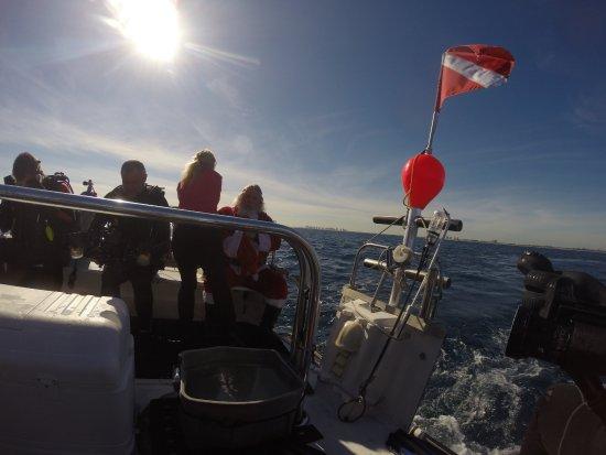 Jupiter, Flórida: Santa on the Kyamali Dive Boat